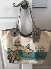 Authentic Coach Blue Starfish Ocean Tote, F19212