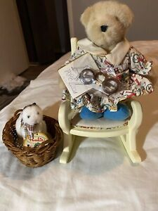 Muffy Vanderbear The Reading Collection Muffy, Rocking Chair, Basket w/Purrlie