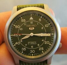 SEIKO AUTOMATIC MILITARY WATCH (CAL.7S26C) Green face nylon strap NMINT