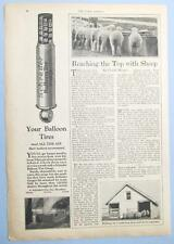 Original 1926 Schrader Tire Gage Ad 8 x 11 YOUR BALLOON TIRES NEED ALL THE AIR