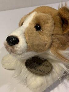 "Russ Berrie Yomiko Classics 13"" Collie Dog Realistic Stuffed Animal Puppy Rare"
