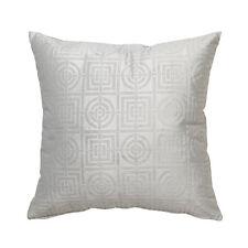 Florence Broadhurst Circles & Squares Silver Velvet Square Filled Cushion