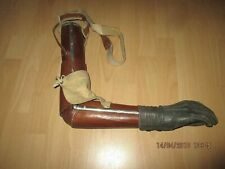 Antique WW2 German arm prothese wood leather metal deco steampunk