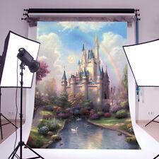 Fairy tale Vinyl Photography backdrop Background studio props Castle 3X5FT DB759