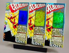 Excalibur #71 Rare Blue Plus Orange And Green Holograms Nm- 9.2