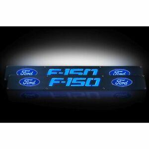 RECON 264321FDBK 2009-2014 Ford F150 Black-Blue Emblems Illuminated door sill