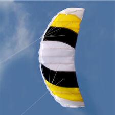 Outdoor Power Dual Line Stunt Parafoil Parachute Beach Kite For Beginner O329U