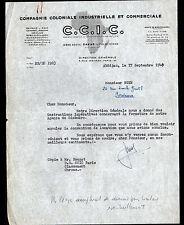 """ABIDJAN (COTE-d'IVOIRE) C.C.I.C. """"Compagnie COLONIALE INDUSTRIELLE"""" en 1949"""