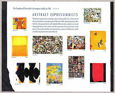 Abstract Expressionists Stamps Pane MINT 44c Pollock Rothco Still Gorky Kooning