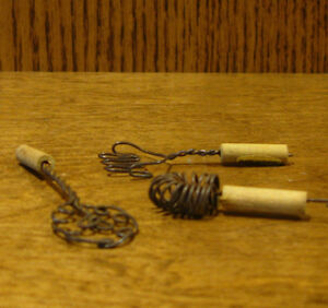 """Doll/Teddy Miniature Accessory; Set of 3 Wire Beaters, 2.875"""", 2.25"""" & 2"""" long"""