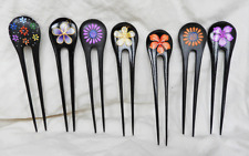 Hand Painted Fair Trade Wooden Hair Pin - Single / Double Stick - BNWT