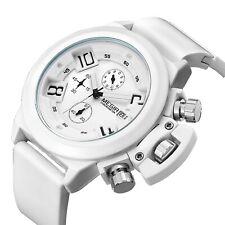 MEGIR Sport Watch Silicone Chronograph Men's Wrist Silicone Date Day Analog New
