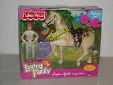 """New Fisher Price Loving Family Aspen Gold """"Western Horse"""" Riding Fun"""