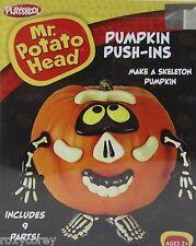 Halloween Mr Potato Head Pumpkin Push In Skeleton Costume 9 Parts NIB