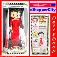 """Betty Boop 10/"""" Mini Doll Glamor Night Dress w// Doll Stand Precious Kids Cartoon"""