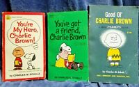 Vintage Lot of 3 Peanuts Comic Books Charles Schulz Snoopy Charlie Brown 1960's