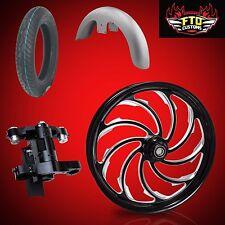 "Harley 26 inch Big Wheel Builder kit, Wheel, Tire, Neck, & Fender, ""Venom"""