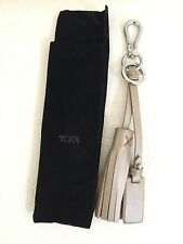 Authentic New TUMI NOHO Tassel Key Fob Ring Chain Gold Metallic with Black Pouch