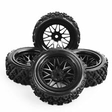 4Pcs Rally Tires&Wheel 12mm Hex For HSP HPI RC 1/10 Off Road Racing Car BBNK+487