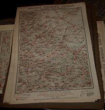 FOGGIA - POTENZA 1925 ATLANTE STRADALE D'ITALIA TCI Foglio n. 34