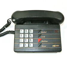 VINTAGE Northern Telecom BLACK Hotline Touch-Tone Telephone 1980s Canada Works!