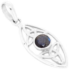 SSS Facited Labradorite 925 Sterling Silver Pendant Jewelry P1364LBF