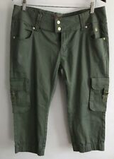 Apple Bottom Pants Cargos Womens Size 13/14 Army Green Vintage 90s Hip Hop