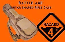 "41"" Hazard 4 BattleAxe Guitar Shaped Rifle Case AR15 AK Urban Travel Bag TAN-"