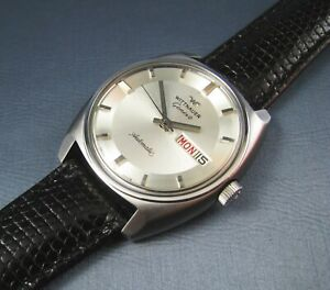 Vintage Longines Wittnauer Stainless Steel Automatic Mens Watch 17J D11KAS 1970s