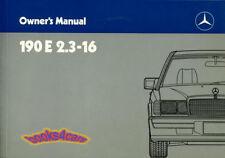 Mercedes 190e 23 16 Owners Manual Handbook Guide Book 190 E 16 Valve Cosworth