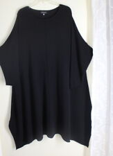 NEW Eskandar OS Black A-Line Dramatic Cashmere Long Sweater Knit Dress Tunic Top