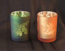 F-Home Interiors Metallic Fall Festival Candle Holders Set/2