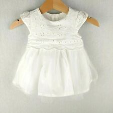 Baby Girl 3 Layer White Dress Mothercare Special Occasion Christening - Newborn