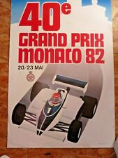 AFFICHE ORIGINALE DU GRAND PRIX DE MONACO F1. 1982