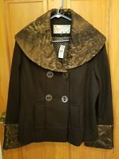 RMistique Woman's Brown Viscose/Polyester Lined Coat Size XL Canada.  NWT
