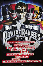 Mighty Morphin Power Rangers Movie Poster 1995 Red Hot Chili Peppers Van Halen
