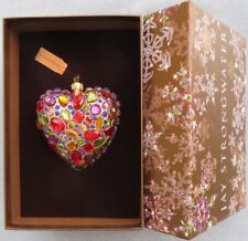 Jay Strongwater Jeweled Heart Ornament Swarovski Elements New in Box