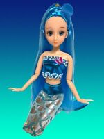 Eledoll Delphina Blue Hair Mermaid Doll Posable Joints Articulated Pivotal