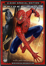 SPIDER-MAN 3 The MOVIE Sequel on 2 DVD of MARVEL COMIC Book SUPERHERO Hero VIDEO