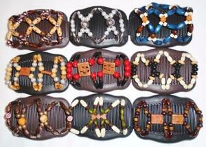 """Angel Wings Hair Clips 4x3.5"""", African Butterfly Double Combs,Comfy, Quality S22"""