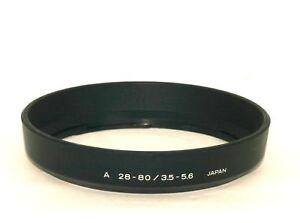 Minolta Lens Hood - For Minolta A 28-80mm f3.5~5.6  Zoom Lens