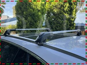 1 Pair Aluminum Cross Bar Roof Rack for Lexus LX570 Clamp in Flush Rail