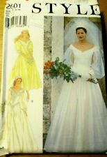STYLE Sewing Pattern no. 2601 LADIES WEDDING DRESS size 6-16  UNCUT
