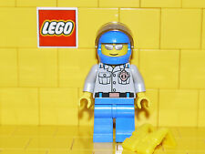 Lego City Coastguard Man Grey Top With Badge Wearing a Helmet Minifigure NEW