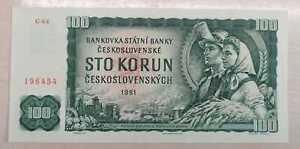 Tschechoslowakei 100 Korun 1961  kassenfrisch  Pick 91c