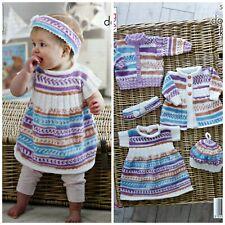 KNITTING PATTERN BabyCardigans & Hooded Top/Dress Cherish DK King Cole 5219