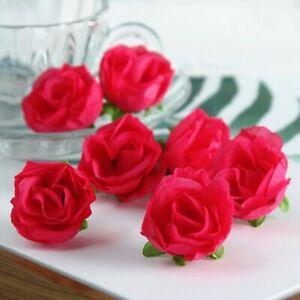 100pcs/Set Artifical Flower Fake Rose Head DIY Bridal Shower Wedding Party Decor