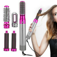 Hot Air Hair Dryer Negative Ion One Step Styling Blower Brush Straight/Curler AC