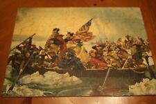 George Washington Crossing the Delaware rare old antique vintage Puzzle Jiggle