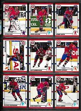 1990-91 Score USA Montreal Canadiens Team Set (20) Patrick Roy Etc.